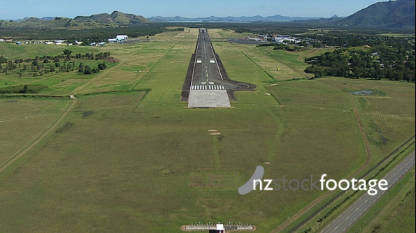 Noumea Airport Runway sped up 2 AERIAL 4507
