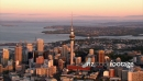 Auckland City Aerial Dusk Red Glow 1 24805