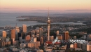 Auckland City Aerial Dusk Red Glow3 24806