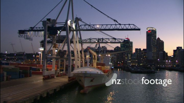 Auckland Port Night Aerial 2 24718