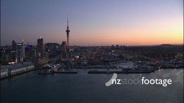 Auckland Waterfront Night Aerial 1 24715