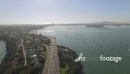 Auckland Harbour Bridge and motorway towards Takapuna and Rangit 24827