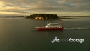 Car Ferry in Hauraki Gulf Aerial 2 24605