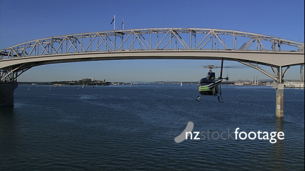 Helicopter Harbour Bridge Auckland Aerial 2 24596