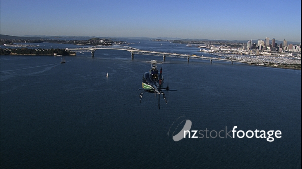 Helicopter Harbour Bridge Auckland Aerial 1 24603