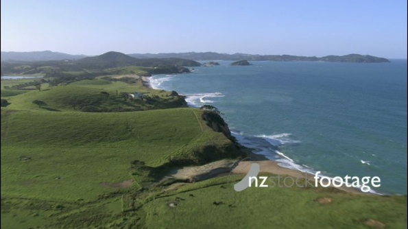 Coastal NZ Farm and Beach Aerial 1 24652