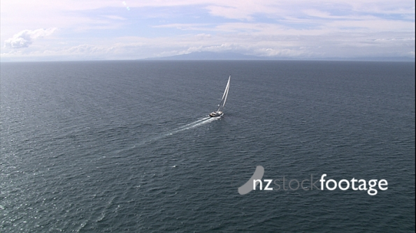 Large Luxury Yacht Aerial AKNZ 1 4573