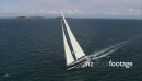 Large Luxury Yacht Aerial AKNZ 4 4576