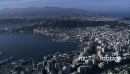 Wellington City and Harbour Aerial 5 24626