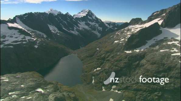 Mountains and Lake Fiordland AERIAL 24507