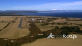Taupo Airport Plane Approach 2 AERIAL 3564