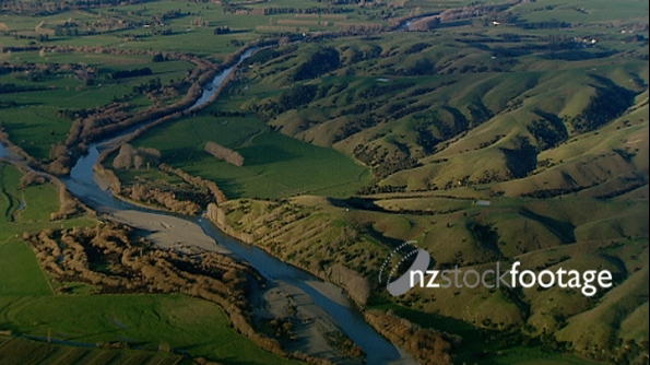 NZ Countryside River, Aerial 2624