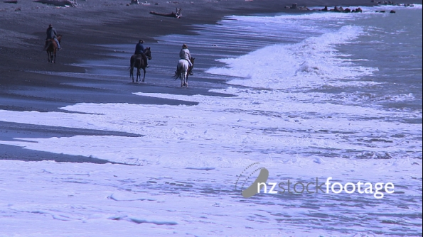 Horses and Riders on Beach 2 3585