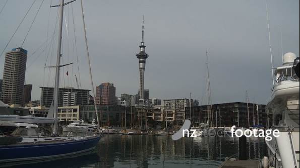 Auckland amongst yachts 3842