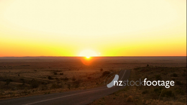 Outback Sunset And Road 1 3789