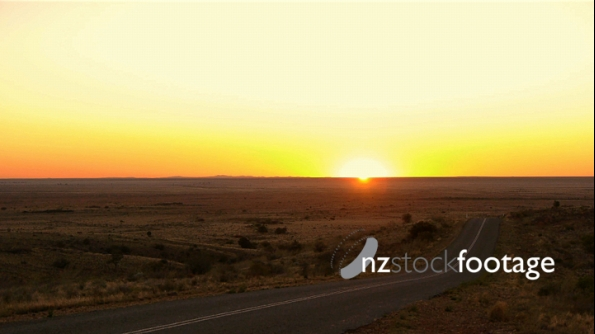 Outback Sunset And Road 2 3790