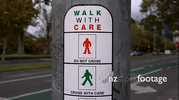 Pedestrian crossing sign Melbourne Australia 1 4082