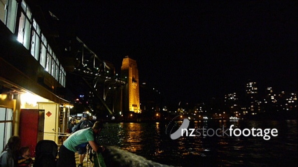 Sydney Ferry under harbor bridge 1 4088