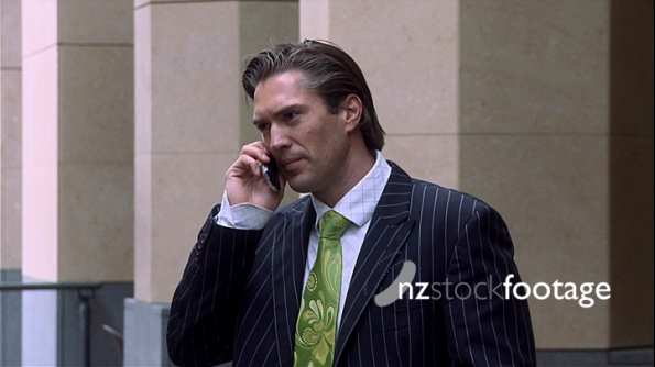 Business Man on Mobile Phone 3 317