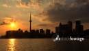 Skyline of Toronto at Sunset. Canada 1 2546