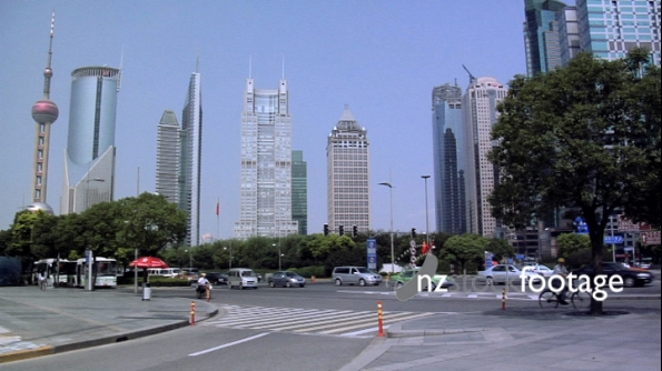 Shanghai Highrise Financial District & Traffic 2 2386