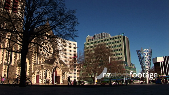 Christchurch Cathedral Square Pre-Earthquake 140