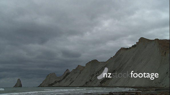 Clouds over Cape Kidnappers TIMELAPSE 3962