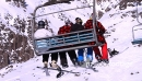 Skiers And Snowboarders On Chair Lift 3839