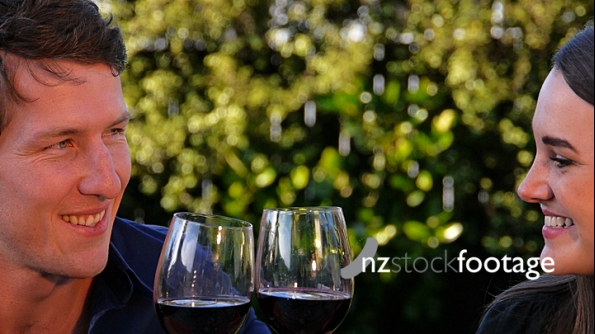 Couple Drinking Red Wine 1 4439