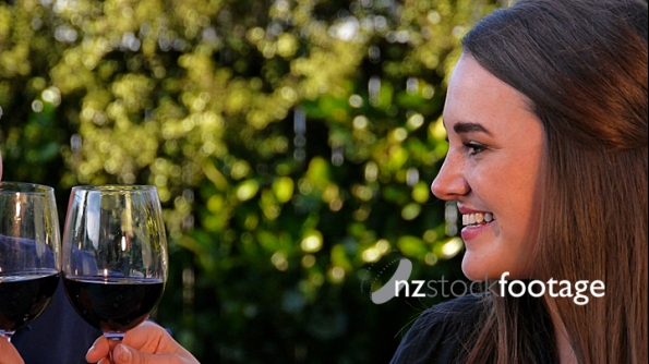 Couple Drinking Red Wine 2 4440