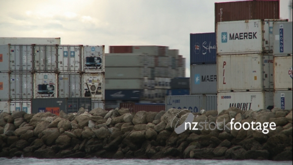 Container Ship Napier TIMELAPSE 1830