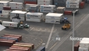 Container Truck Unloaded TIMELAPSE 1745