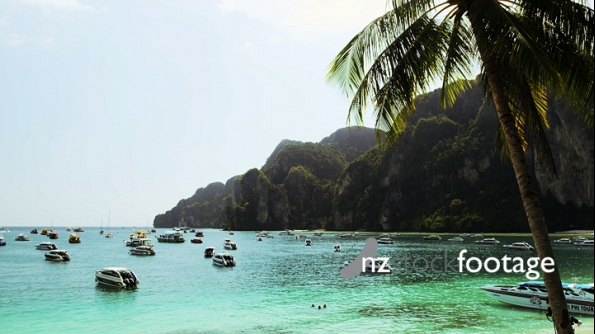Thailand Boats at Ton Sai Bay of Phi Phi Don 2 3347