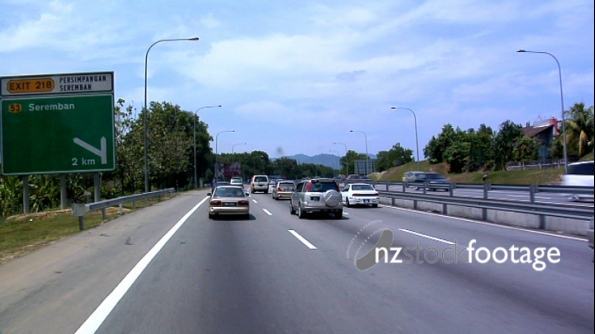 Car POV along Malaysian Highway 2101