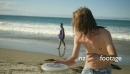 Summer Beach Teens with Frisbee 1 24980