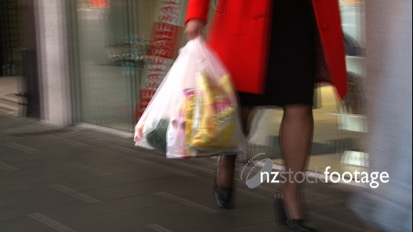 Woman with Shopping Bag 1 1083