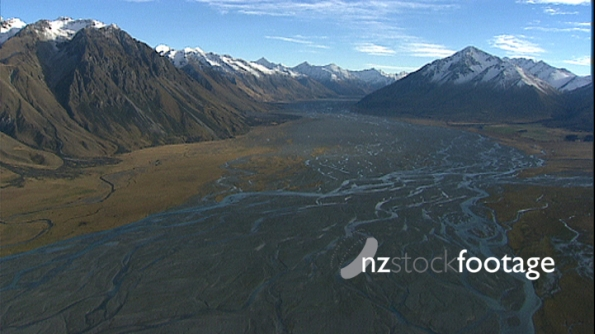 Braided River Mountains 3 AERIAL 3193