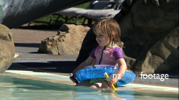 Hanmer Springs Pool with Small Child  1 1222