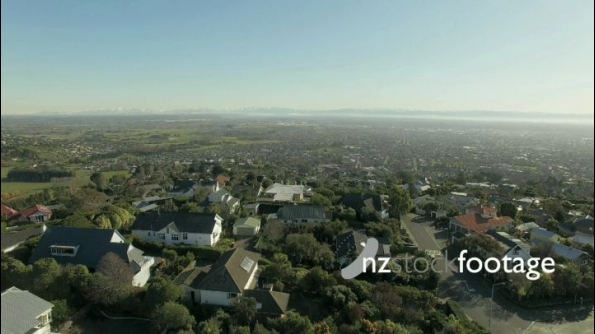 Christchurch Port Hills Flyover NW Aerial  24920