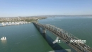 Auckland Harbour Bridge Still and Pan to CBD 24829