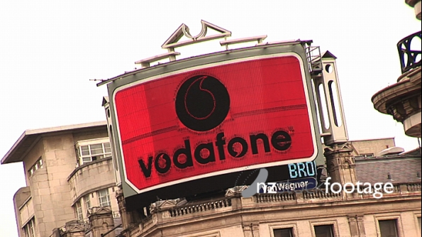 London Vodafone Neon Sign 239