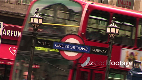 London Bus and Underground Station Sign 1 194