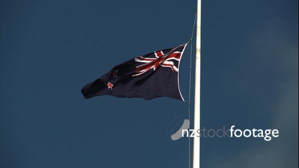 New Zealand Flag at Half Mast