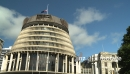 Beehive Building with Flag at Half Mast. New Zealand  2918