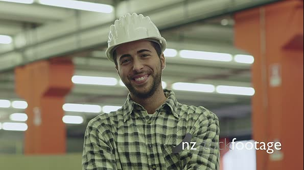 Portrait Of Happy Worker Smiling In Warehouse 11714