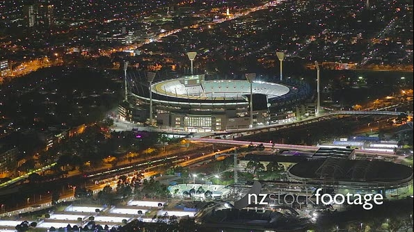 Melbourne MCG Night Time Scene 11803