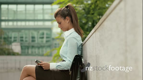 Business Woman Using Ipad Digital Tablet Pc For Work 12141