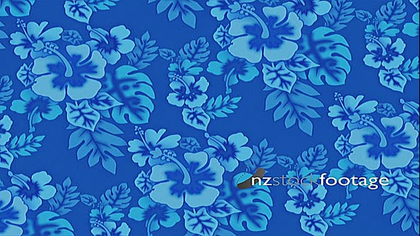 Pacific Hibiscus Flowers Blue 127