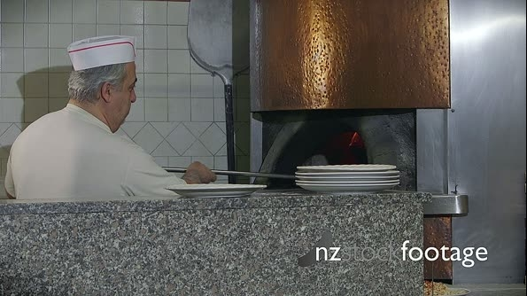 Happy Man Chef Cooking Pizza Restaurant Kitchen People Pizzamake 12844