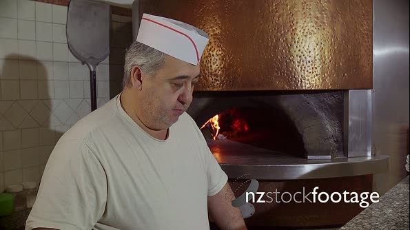 Man Working Cook Making Pizza In Italian Restaurant Kitchen Ital 12870